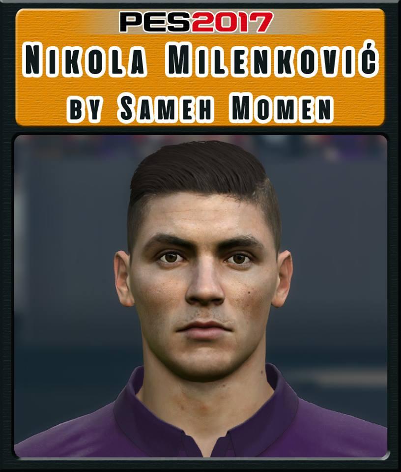 PES 2017 Nikola Milenković face by Sameh Momen