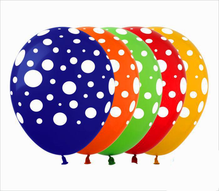 Воздушные шарики в горошек