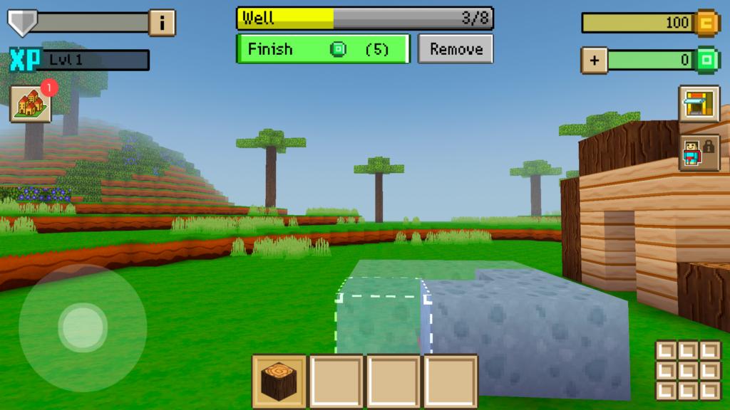 Block craft 3d building game 2 5 3 mod apk mod money for Block craft 3d games