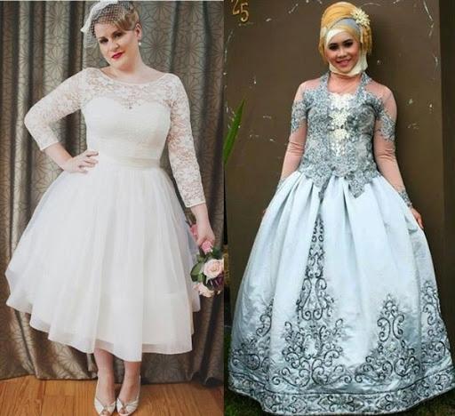 gaun pengantin untuk orang gemuk