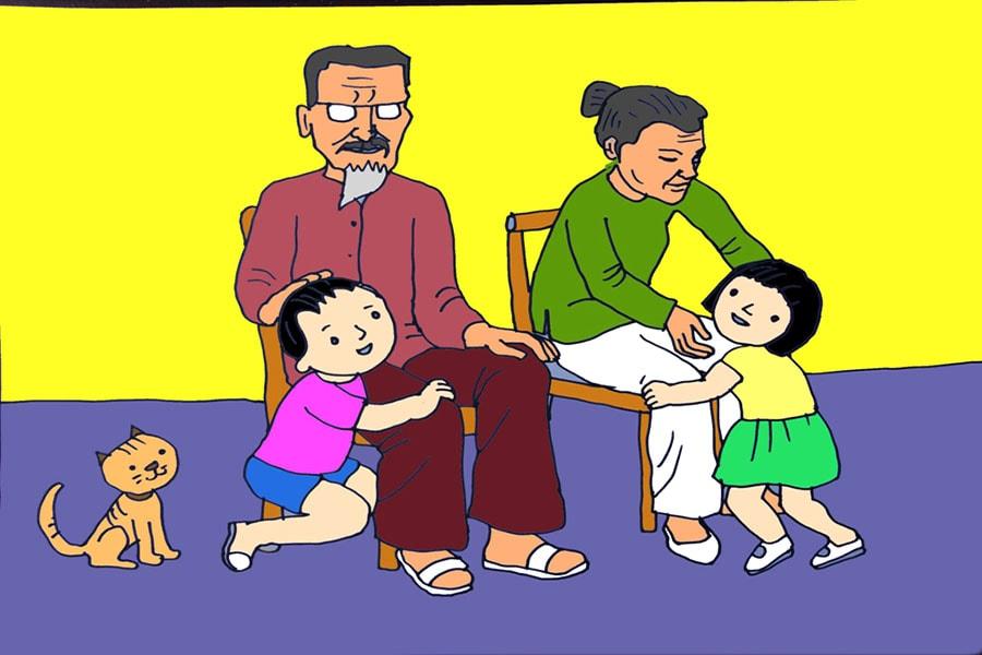 tranh ảnh chủ đề gia đình