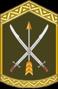 нарукавний знак, емблема 197 центру підготовки сержантського складу