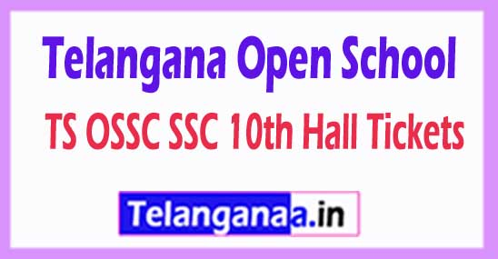 TSOSS TS Telangana Open School SSC 10th Hall Tickets 2018 TS OSSC Hall Tickets