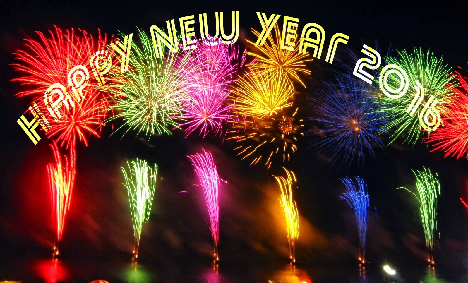 Happy New Year 2016 Facebook Cover Images 1080px
