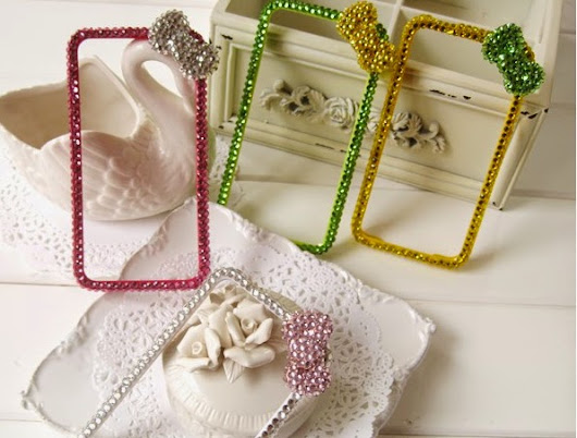 New Colorful glitters Bow Knots bumper case for iPhone 4 4s 5 5s
