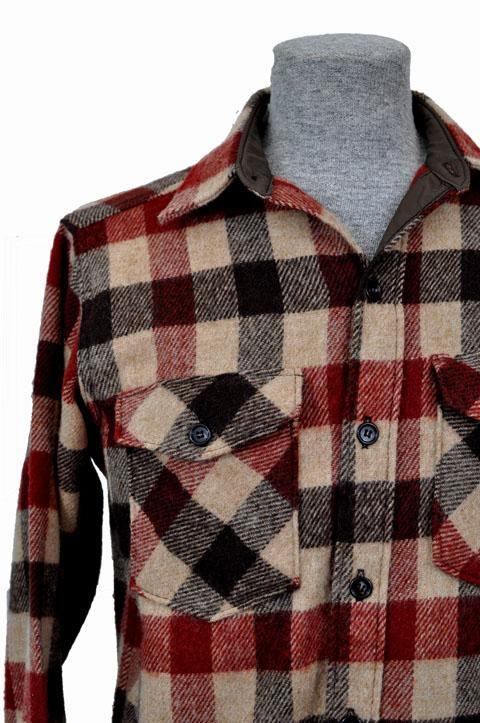 0721102e55474 goodbye heart vintage: Vintage LL Bean Plaid Wool Shirt. Size Medium.
