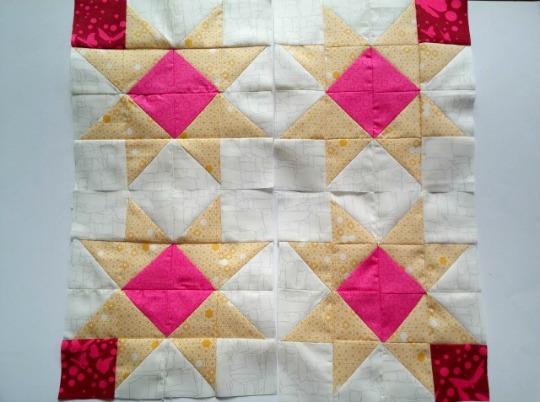 Puppilalla, HST stars, Half square triangles, star quilt block