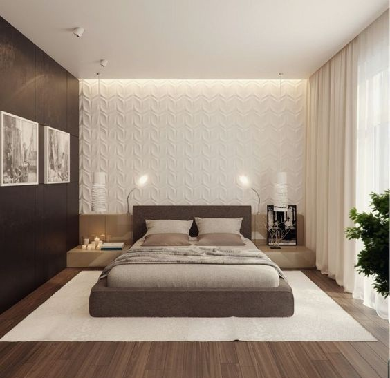 30 Modern Bedroom Wall Design Ideas 2019