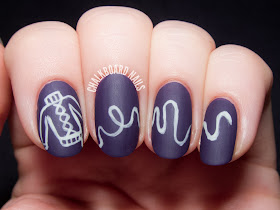 Undone - The Sweater Song nail art by @chalkboardnails