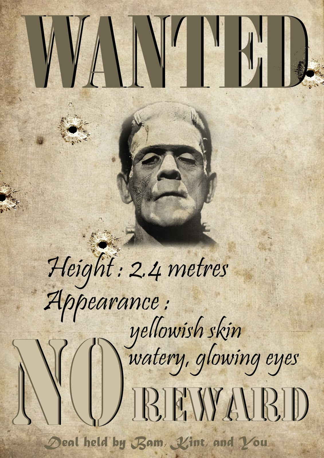 M4 SEEK 201718 Frankensteins Monster Wanted Poster – Wanted Poster Examples