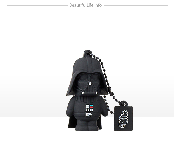 Homenaje a Star wars con memoria flash o usb Darth  Vader