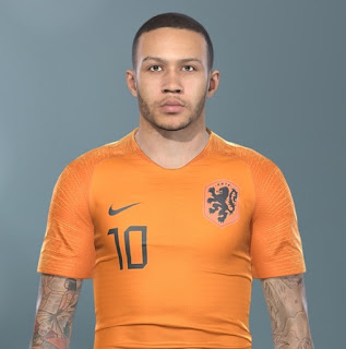 PES 2019 Faces Memphis Depay by Makidan14