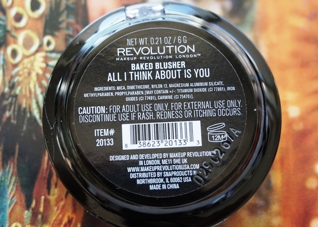 Makeup Revolution Baked Blusher - All I Think About Is You (bellanoirbeauty.com)