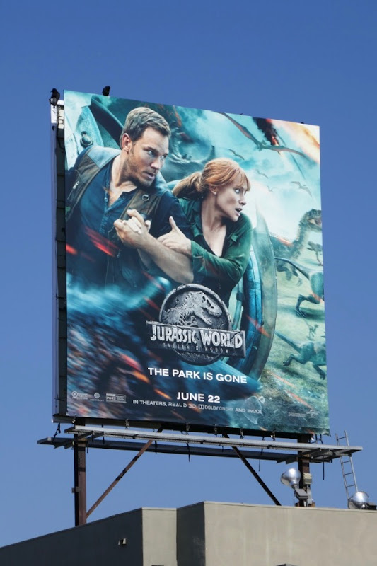 Jurassic World Fallen Kingdom movie billboard