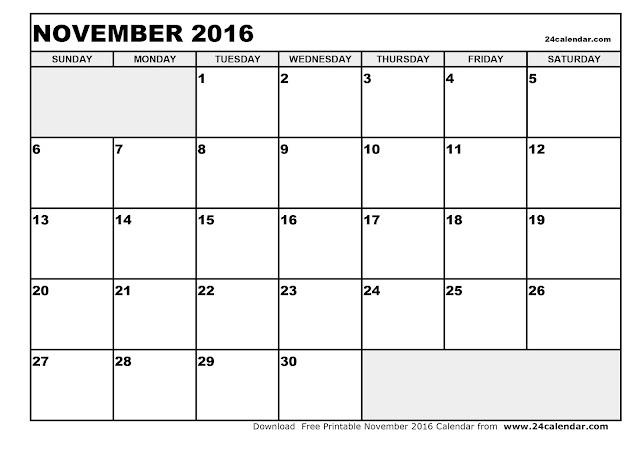 Calendar Template Zw