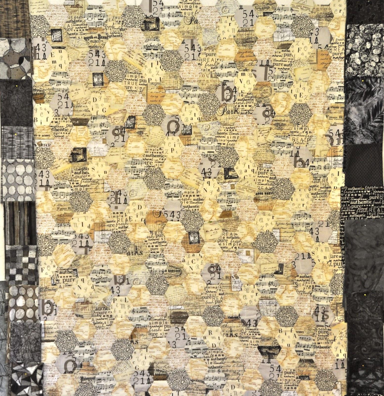 LuAnn Kessi: Hexagon Text Quilt......Border Fabric