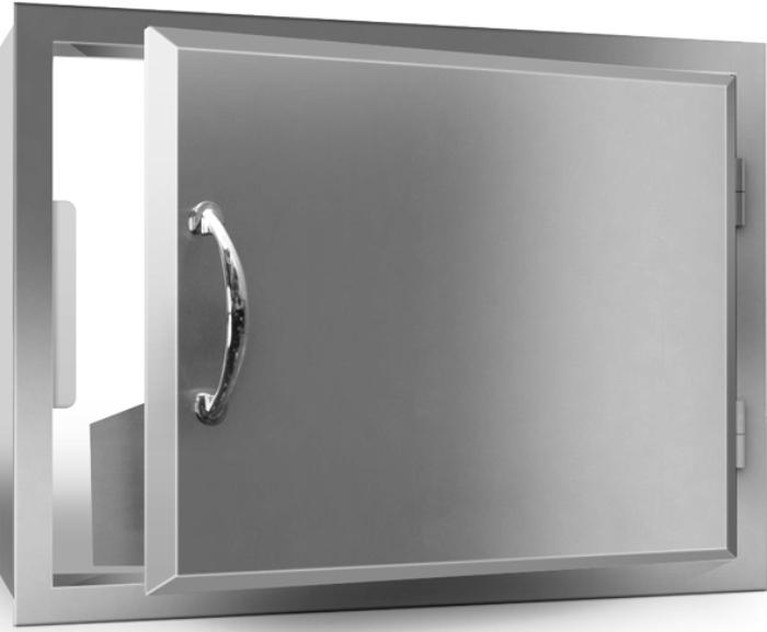 Outdoor Stainless Steel Door Horizontal 27 X 20