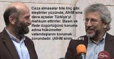 Türkiye'de Can Dündar ve Erdem Gül için AİHM suçu işleniyor