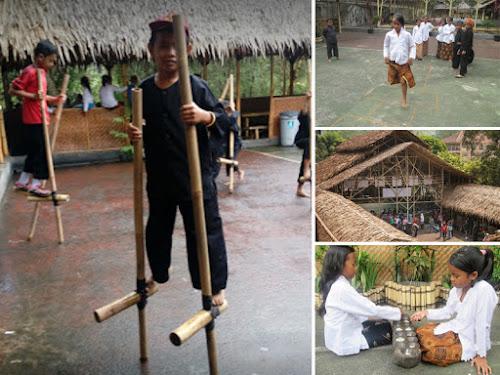 Permainan anak tradisional di ECO Bambu Cipaku