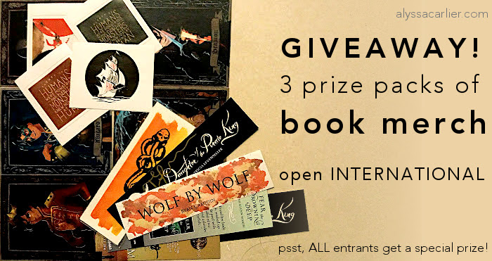 book merch giveaway: INT'L, 3 prize packs!