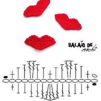 Diagramme bisous au crochet