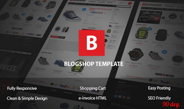 Blogshop Blogger Template
