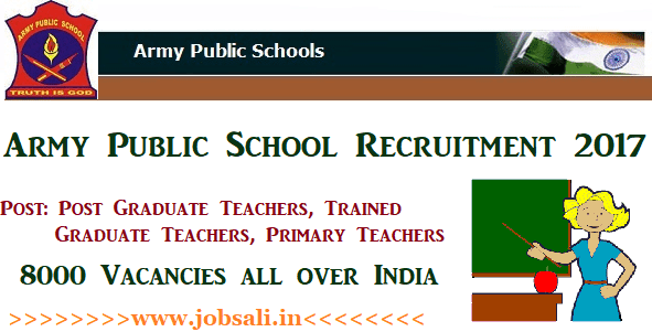 Army Public School Recruitment 2017, Army Welfare Education Society Teachers Recruitment 2017, Teacher Vacancy in Army Public School