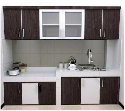 model meja dapur sederhana dengan lemari gantung