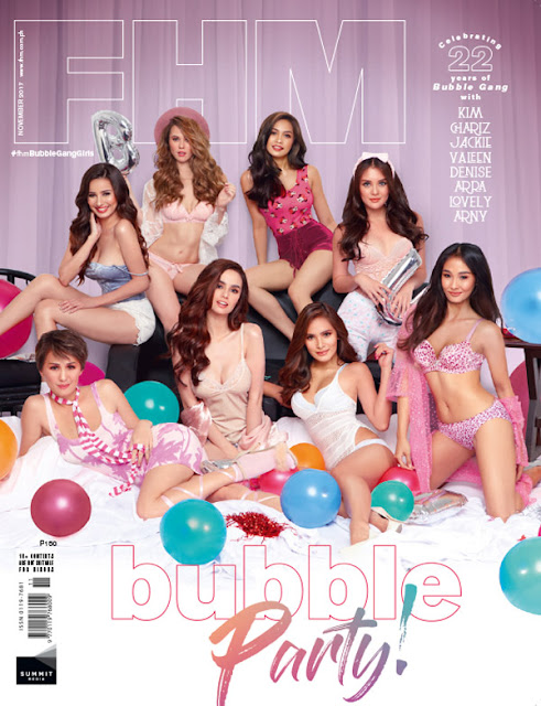 Hot Bubble Gang Babes Are FHM November 2017 Cover Download