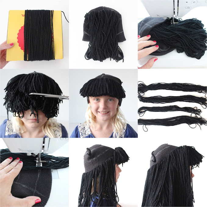 Homemade Yarn Wig 103