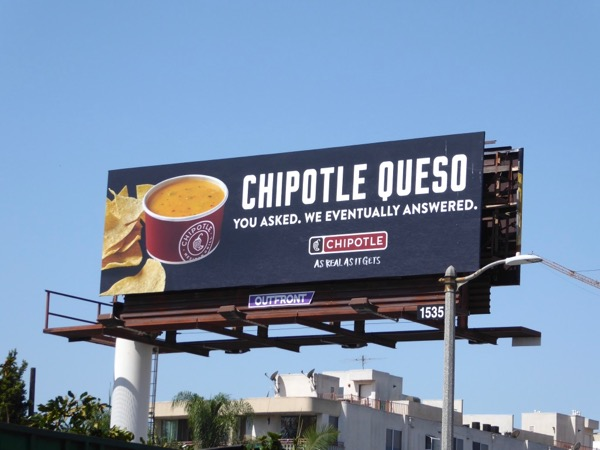 Chipotle Queso billboard