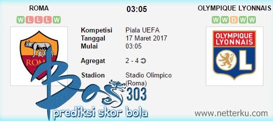 Roma vs Olympique Lyonnais 17 Maret 2017 - Netterku.com