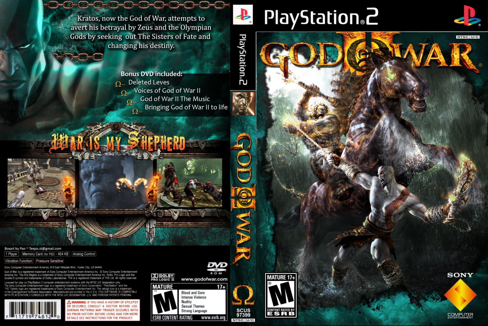 God of war 2 ps2 game