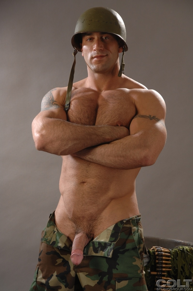 Gay sexy muscular military men naked black 5