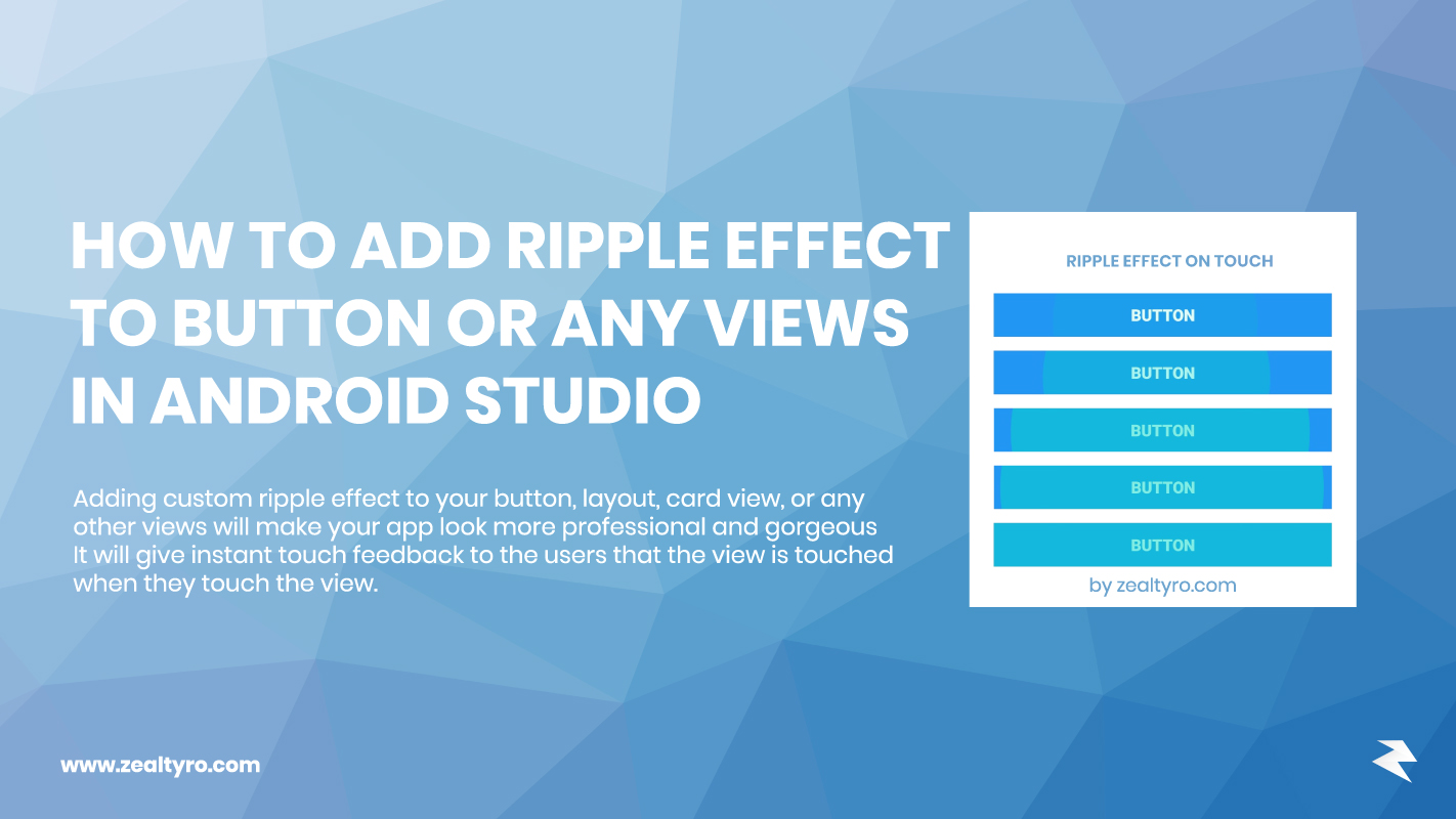 How To Add Ripple Effect/Animation To Button or Any Views in Android Studio