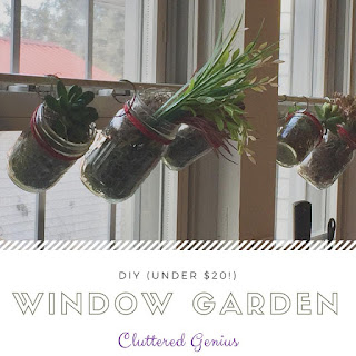 Blog With Friends, a multi-blogger project based post incorporating a theme, Winter Activities | DIY (under $20) Window Garden by Lydia of Cluttered Genius | Featured on www.BakingInATornado.com