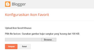 Cara mengganti favicon pada blog