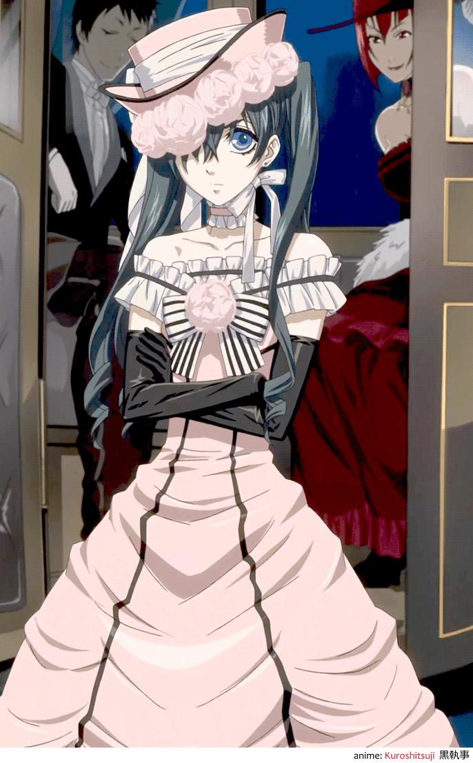 Crossdressing Ciel Phantomhive シエル・ファントムハイヴ from anime Black Butler, Kuroshitsuji 黒執事