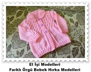 Örgü Bebek Hırka Modelleri 11