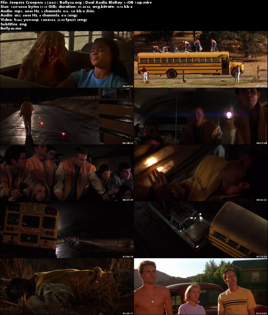 Jeepers Creepers 2 2003 BluRay Hindi Dual Audio 720p Download