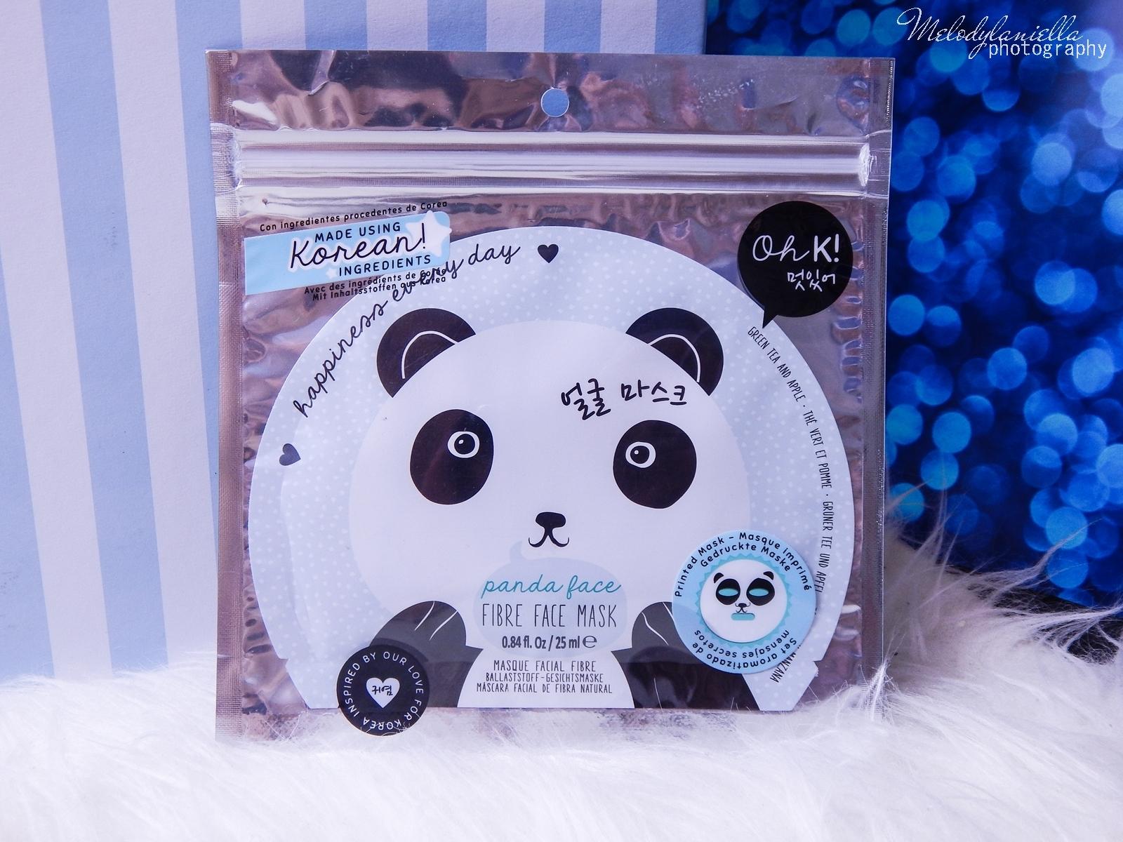 4 Oh! K Life koreańskie kosmetyki i gadżety słodkie dziewczęce dodatki maska do twarzy panda kosmetyczka w kształcie pandy lodowe płatki chłodzące okłady na oczy przeciw sińcom jak pozbyć się sińców pod oczami