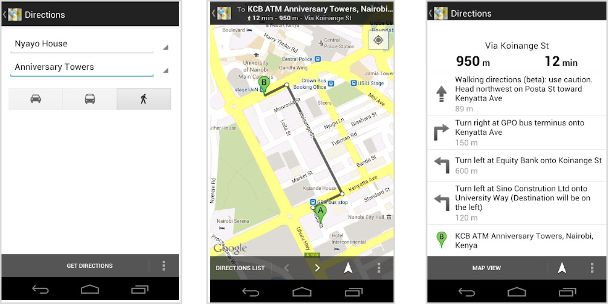 Google Lat Long Google Maps for Africa gets better walking – Get Directions on Google Maps