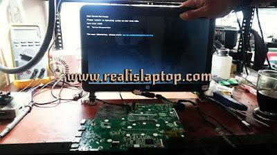 service laptop hp sleekbook 14 tidak tampil ,malang