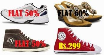 Men's Footwear – PUMA & U.S. POLO ASSN – Flat 50% Off | Women's Footwear – CAT WALK – FLAT 60% Off | Men's Footwear – GLOBALITE – Rs.299 Only