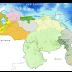Lluvias y/o lloviznas sobre:sur de Apure, Guárico, Lara, Región Zuliana, Región los Andes, Delta Amacuro,   Amazonas, Bolívar y Territorio Esequibo