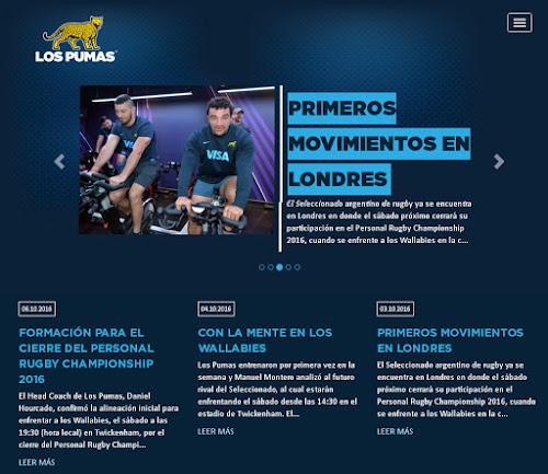 Nueva web para Los Pumas