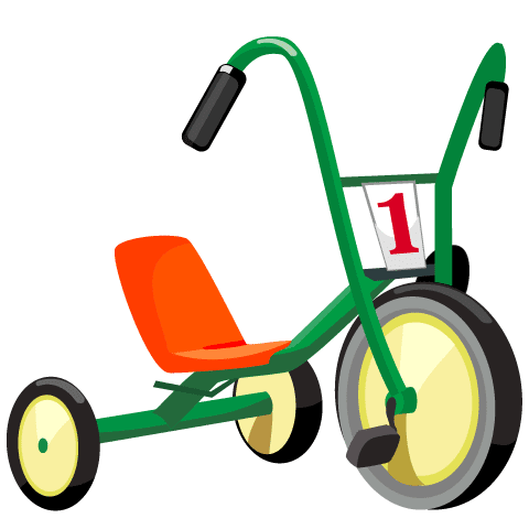 Triciclo infantil - Vector
