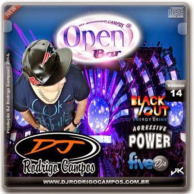 CD - Open Bar Vol.14 - Sertanejo Universsitário DJ RODRIGO CAMPOS