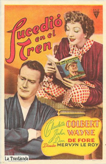 Sucedió en el Tren - Programa de Cine - Claudette Colbert - John Wayne