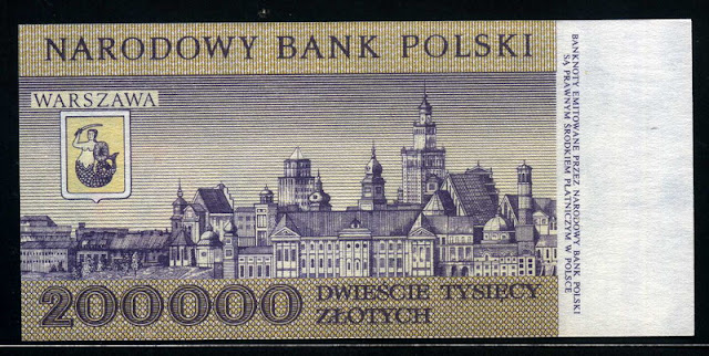 View of Warsaw 200000 Zlotych